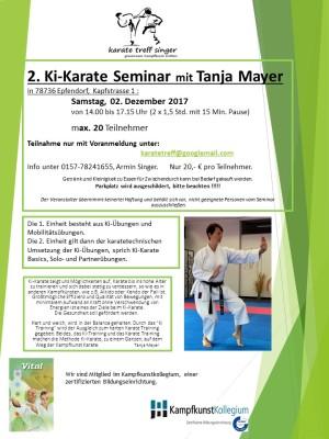 Ki Seminar 2017 karate treff singer